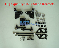 Free shipping CNC Rearset Foot pegs Rear set For Ducati 848 1098 1098S 1098R 1198 S R Black