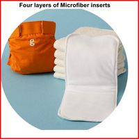 Free Shipping (10pcs/lo)Factory  Sale High Qulity Washable And Reuseable 4  Layers Microfiber Diaper Inserts