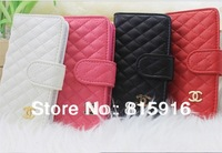 For iphone 5 5G luxury leather case, High quality Deluxe leather wallet card case for i phone 5+Free Shipping