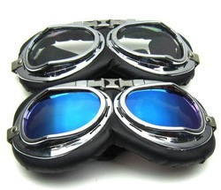 Free shipping New Vintage Jet helmet Goggles Glasses Sunglasses Motorcycle scooter accessory(China (Mainland))