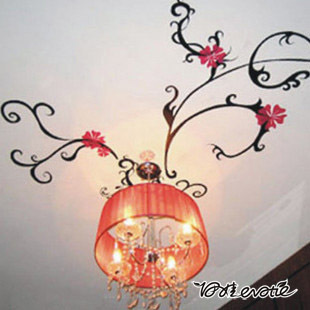 Eva wall stickers ceiling dome light wall stickers b1041