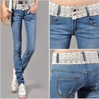 Free shipping, Hot sales, Show skinny pencil pants, women's jeans , Large amount of preferential  0035