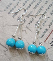 National trend silver jewelry unique jewelry color stone earrings yc147(China (Mainland))