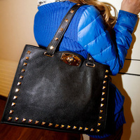 2013 women's handbag, bag autumn and winter women's bags fashion casual fashion rivet shoulder bag cross-body handbag,