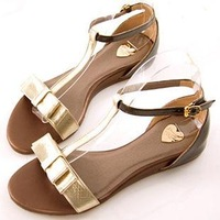 2013 stundents summer sandals, bow flat casualshoes ,white princess  sandals