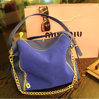 2013 spring bag women's handbag, nubuck leather genuine leather handbag, one shoulder cross-body bag women's bags,