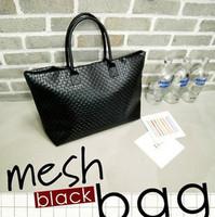 2013 women's handbag casual gentlewomen fashion bag woven bag shoulder bag large capacity women's handbag black women's handbag