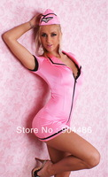 Sexy pink airline stewardess cloth,include bra ,role play ,elastic.Free shipping!