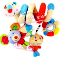 free shipping Babyfans bed baby toy rattles, safety mirror bed bell newborn baby bed hanging  Stuffed toys