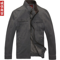 Free shipping Quinquagenarian men's clothing jacket 2013 men's top spring and autumn pure cotton-padded coat