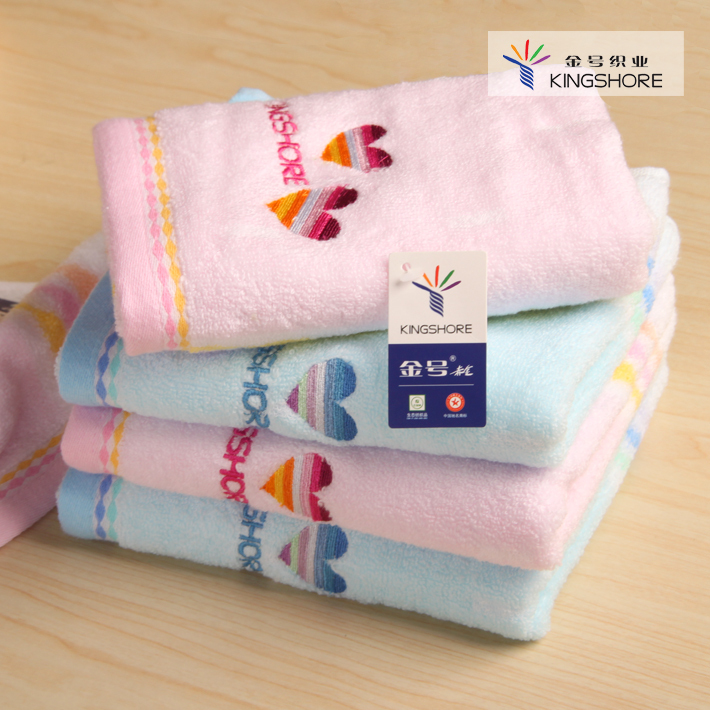 New arrival 100% cotton 100% cotton towel washouts jacquard embroidered heart lovers design(China (Mainland))