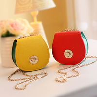 2013 flip color block candy color sweet women's one shoulder messenger bag camera chain bag