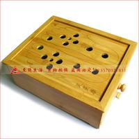 Foot/foot/feet warm moxibustion box bamboo foot type,bamboo foot moxa box