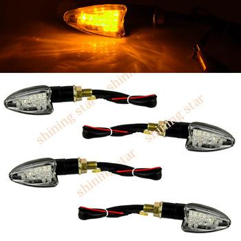 4 x 12-LED Motorcycle Turn Signal Indicators Lights Light Universal  Free Shipping TK_CB154