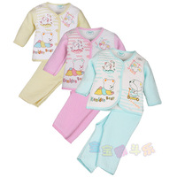 2014 winter bear baby wadded jacket set newborn 1d103 thermal underwear set