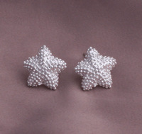 925 sterling silver starfish charm  ear studs 963012