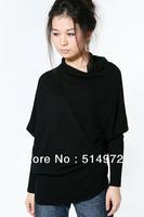 Best selling!!women's turtleneck batwing sleeve sweater  female cardigan free shipping