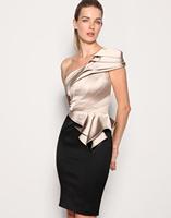 Женское платье Women's Perspectivity V-neck Solid Color Mosaic Lines Slim Dress Sleeveless Tank Dress