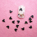 Free Shipping 100g/bag Black  Mickey head nail art decorations