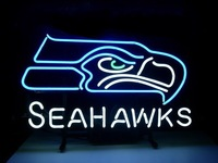 NEW NFL SEATTLE SEAHAWKS FOOTBALL REAL NEON LIGHT BEER BAR PUB SIGN free shipping 17*13