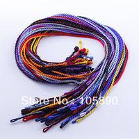 "Wholesale 20pcs MultiColor 18"" Silk Cord Twist Thread Necklace Fit European Charms Pandent  ED01-20"
