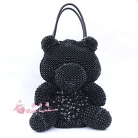 2013 bag anteprima hello kitty women's one shoulder handbag messenger bag woven bag