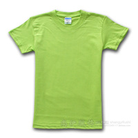 Spring and autumn lovers t-shirt 100% cotton solid color loose solid color short-sleeve T-shirt blank short-sleeve T-shirt -