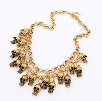 statement retro metal skull necklace fashion jewelry wholesale necklace 2013