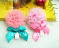 Free Shipping,Wholesale(30 pcs/lot) Cute Bowknot Pattern Cloth Little Girls' Hairpins/Hair Ornament/Kids'  Headwear 001