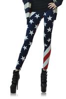 Ladies' American Flag Printed Punk Rock  Leggings  LB13160 Free Size