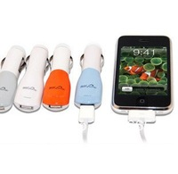 Car USB mobile charger apple iphone 4 s car cigarette lighter type 500 ma