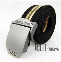 Free shipping Men belt Thickening Canvas belt Casual Outdoor belt for men 110cm and Lengthen 120cm