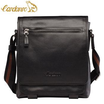 Hot-selling CARDANRO man bag first layer of cowhide business casual shoulder bag messenger bag flip