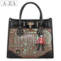 Aza women's handbag   smiley bag