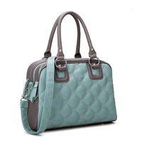 Women's  blue plaid handbag