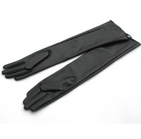 2013 Female women's leather gloves over the elbow PU glove fashion ladies long gloves LGPU001
