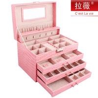 Jewelry box luxury 087 jewelry box multi-layer big cosmetics birthday gift