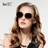 Shes sunglasses fashion vintage alloy frames sunglasses elegant polaroid polarized driving glasses