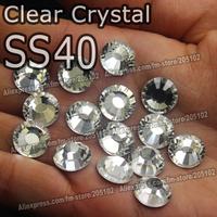 SS40 8.4-8.7mm,144pcs/Bag White Clear Crystal DMC HotFix FlatBack Rhinestones,DIY heat iron garment Hot Fix big crystals stones