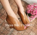 Retro fish head shoes black high heels nightclub slope with Roman ankle boots and bare sandals large size shoes 40-43