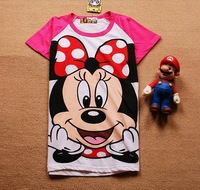 Free shipping lady t shirt women red minnie short-sleeve 100% cotton t-shirt