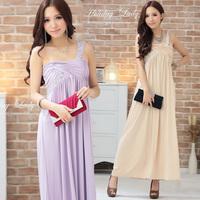 2012 design long evening dress bridesmaid dress one shoulder dress sisters dress skirt