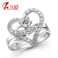 For Ever U 2013 925 pure silver ring women's cubic zircon ring female finger ring