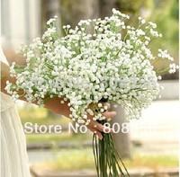 "50pcs/lot White 50cm/19.7"" Length Pu Materials Simulation Babybreath Bouquets Artificial Floral Decorative Flwoers"