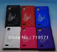 1pcs/lot free ship NEW Butterfly Hard back Case For LG Optimus L9 P760  +1pcs film