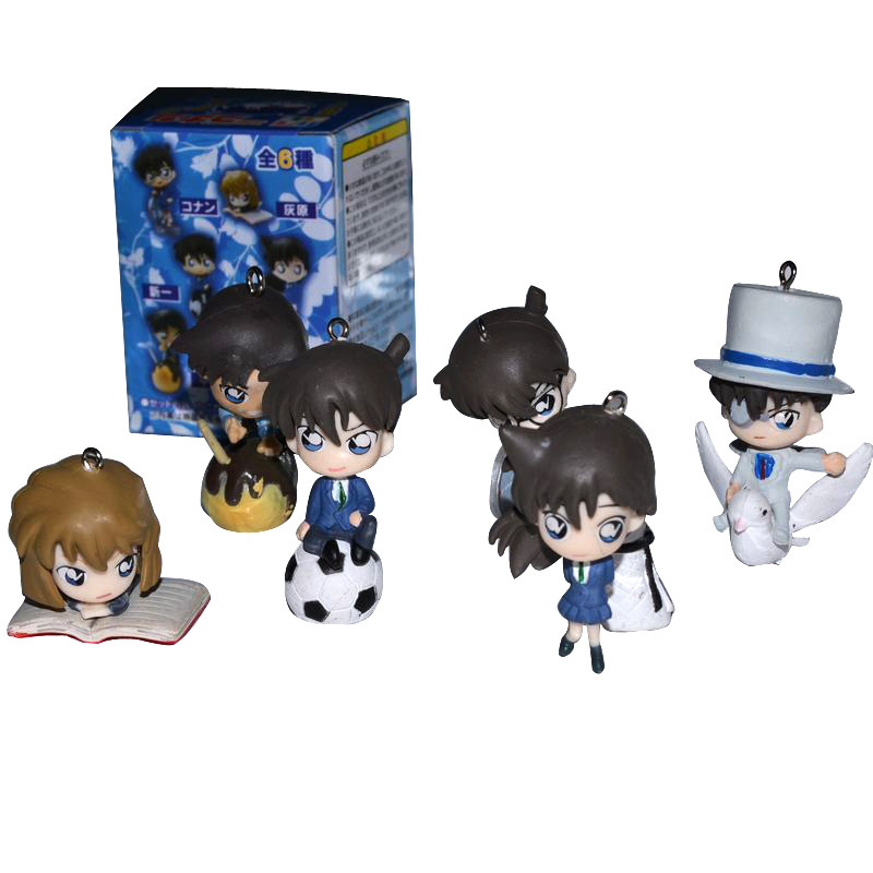 The Detective Conan doll Packed 6 Collectors Edition hand do doll model 6pieces/sets free shipping 1sets/lot