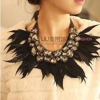 Multicolour  feather collar necklace false collar accessories female fashion collar