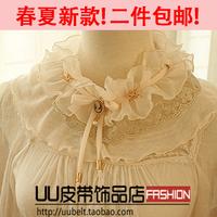 Sweet lace collar flower pearl collar sweet collar necklace false collar