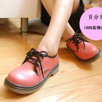 Vintage vintage cute shoes preppy style big head shoe platform shoes vintage single shoes fashion leather