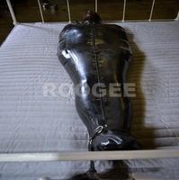Latex catsuit sleeping bag